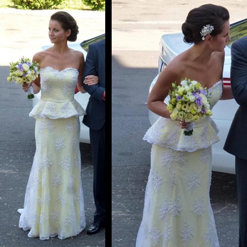 cytrynowa suknia ślubna